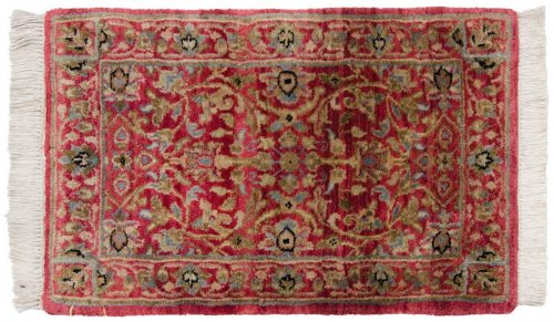 1×2 Tabriz Red Oriental Rug 046539