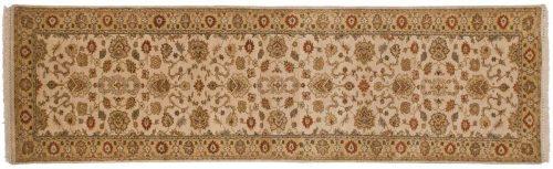 2×10 Jaipur Ivory Oriental Rug Runner 042444