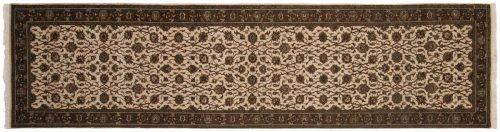 2×10 Kashan Ivory Oriental Rug Runner 042584