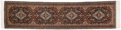 2×12 Kashan Blue Oriental Rug Runner 025237