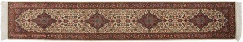 2×12 Kashan Ivory Oriental Rug Runner 045960