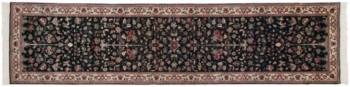 2×12 Persian Black Oriental Rug Runner 039830