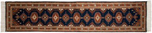 2×12 Salore Blue Oriental Rug Runner 014579