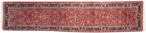 2×12 Tabriz Red Oriental Rug Runner 015532