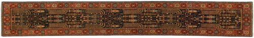 2×14 Persian Blue Oriental Rug Runner 045158