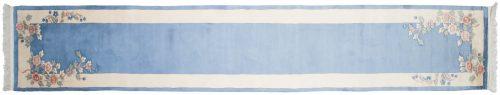 2×15 Floral Blue Oriental Rug Runner 018881