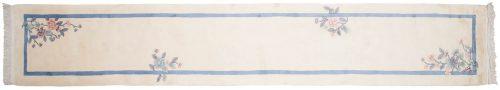 2×15 Art Deco Ivory Oriental Rug Runner 018884