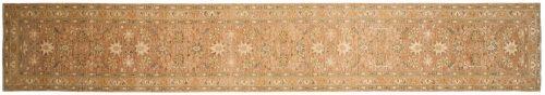 2×15 Chobi Brown Oriental Rug Runner 043829