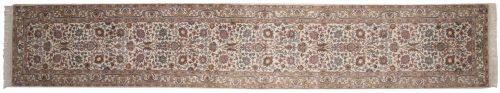 2×15 Tabriz Ivory Oriental Rug Runner 015273