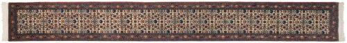 2×17 Persian Ardebil Ivory Oriental Rug Runner 035207