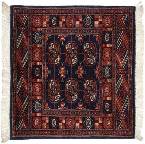 2×2 Bokhara Blue Oriental Square Rug 022093