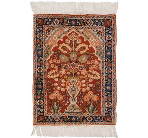 2×2 Kashmir Rust Oriental Rug 013179