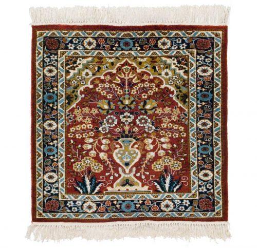 2×2 Kashmir Rust Oriental Rug 022411