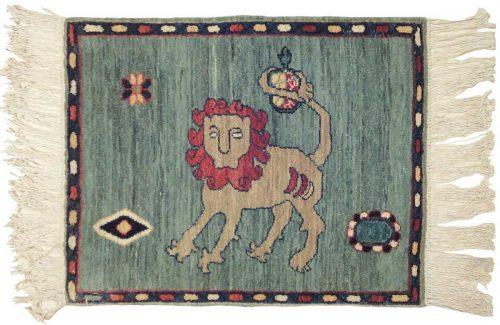 2×2 Persian Green Oriental Rug 020318