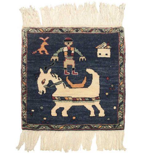 2×2 Karabagh Blue Oriental Square Rug 020315