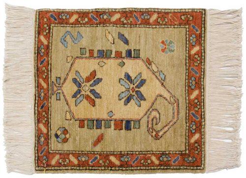2×2 Karabagh Green Oriental Square Rug 020420