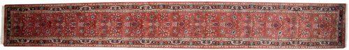 2×21 Tabriz Red Oriental Rug Runner 015878