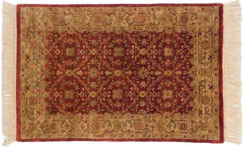 2×3 Agra Burgundy Oriental Rug 038609