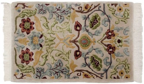2×3 William Morris Beige Oriental Rug 037131