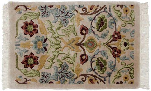 2×3 William Morris Beige Oriental Rug 037132
