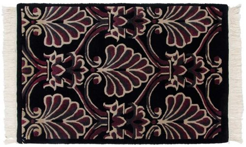 2×3 Arts & Crafts Black Oriental Rug 037155