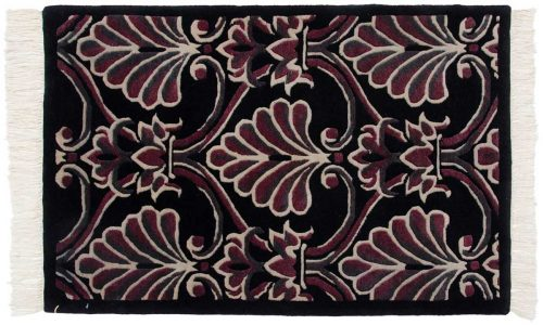 2×3 Arts & Crafts Black Oriental Rug 037336