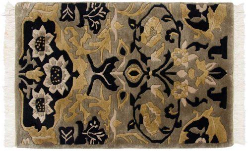 2×3 William Morris Green Oriental Rug 037135