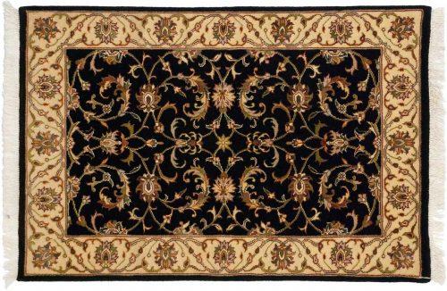 2×3 Kashan Black Oriental Rug 043719
