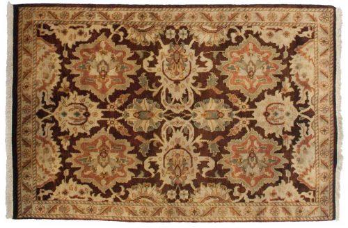 2×3 Agra Brown Oriental Rug 044817