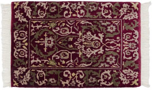 2×3 William Morris Burgundy Oriental Rug 037433