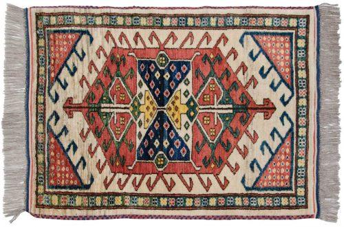 2×3 Caucasian Ivory Oriental Rug 025845