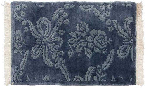 2×3 Damask Blue Oriental Rug 037150