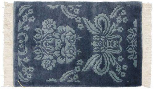 2×3 Damask Blue Oriental Rug 037647