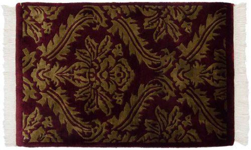 2×3 Damask Burgundy Oriental Rug 037137