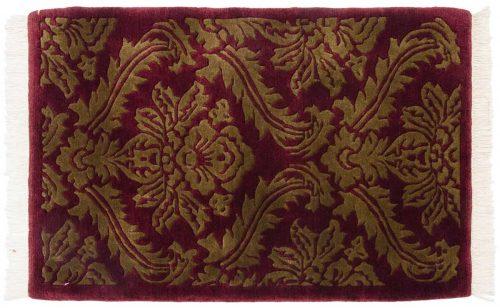 2×3 Damask Burgundy Oriental Rug 037144