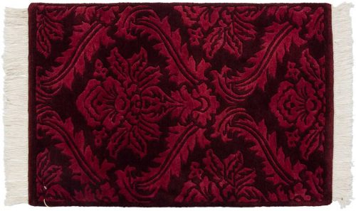 2×3 Damask Burgundy Oriental Rug 037317