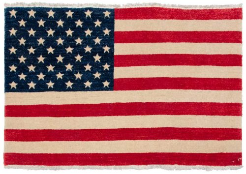 2×3 American Flag Multi Color Oriental Rug 014277