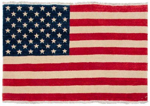2×3 American Flag Multi Color Oriental Rug 014277
