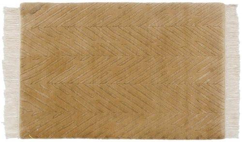 2×3 Modern Gold Oriental Rug 037397