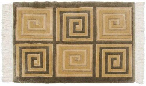 2×3 Modern Green Oriental Rug 036780