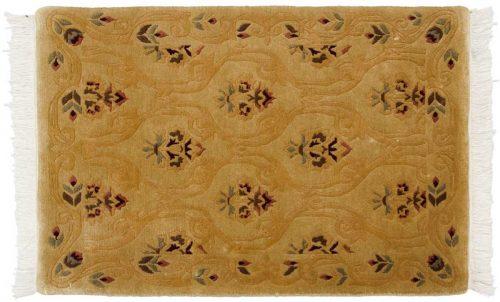 2×3 Damask Gold Oriental Rug 037222