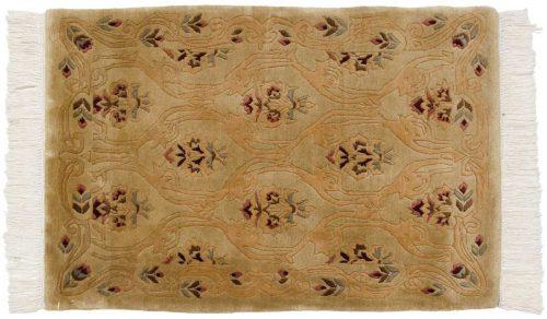 2×3 Damask Gold Oriental Rug 037384