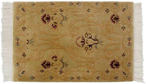 2×3 Damask Gold Oriental Rug 037388