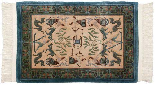2×3 Pictorial Ivory Oriental Rug 018261