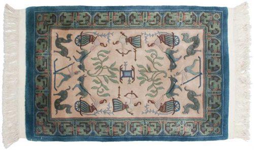 2×3 Pictorial Ivory Oriental Rug 018262