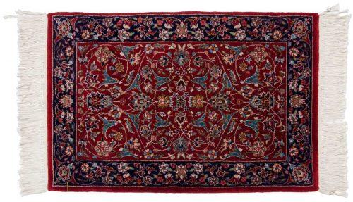 2×3 Kashan Red Oriental Rug 019856