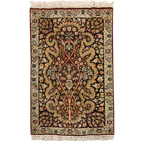 2×3 Kashmir Burgundy Oriental Rug 022417