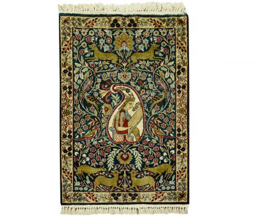 2×3 Kashmir Green Oriental Rug 022416