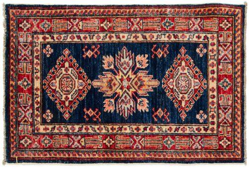 2×3 Kazak Blue Oriental Rug 046460