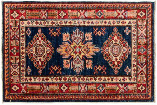 2×3 Kazak Blue Oriental Rug 046463